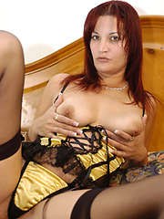 Cock riding cowgirl MILF ponies up for a pussy pounding!