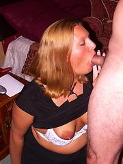 Hot american housewife sucking and fucking hard