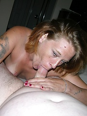 Mature Amateur Gives Sloppy Wet Blowjob