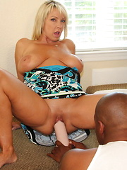 Naughty Alysha brings a fan home for some hot fun