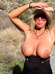 Wifey Shows Off Big Tits And Swallows Cumshot