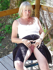 Various mature wives with visible pussies
