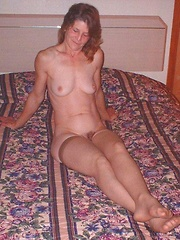 Ever-horny mature amateurs getting their hungry twats stretched on camera