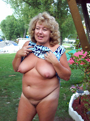 Mature women flashing in public places