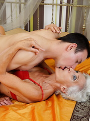 This mature lady loves having fun with her toy boy
