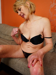 Naughty housewife playing with herself