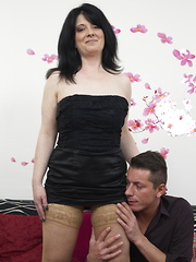Naughty housewife doing her toy boy