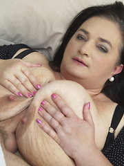 Big breasted mature BBW getting it POV style