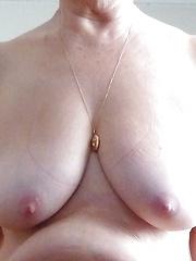 big pink nipples, firm heavy boobs